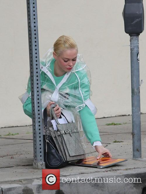 Rose McGowan out and about