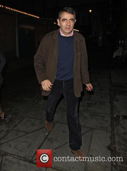 Rowan Atkinson Arriving At J Sheekey
