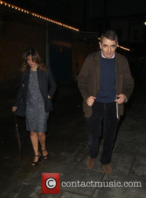 Rowan Atkinson and Sunetra Sastry 5