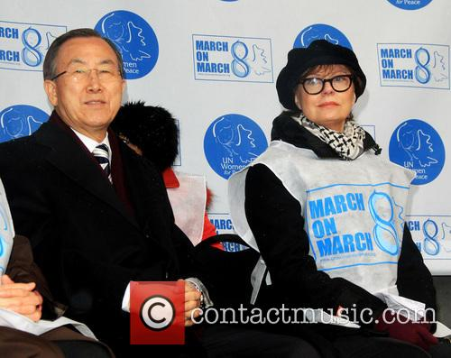 United Nations Secretary-general Ban Ki-moon and Susan Sarandon 2