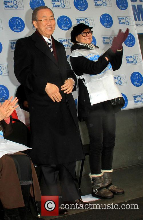 United Nations Secretary-general Ban Ki-moon and Susan Sarandon 1