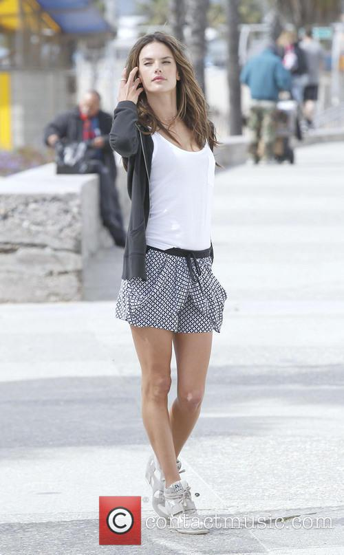 Alessandra Ambrosio photo shoot in Santa Monica