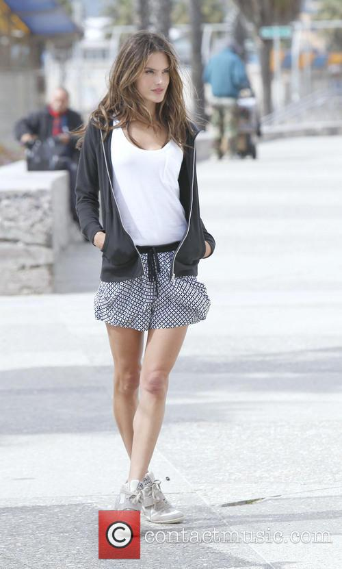 Alessandra Ambrosio photo shoot in Santa Monica
