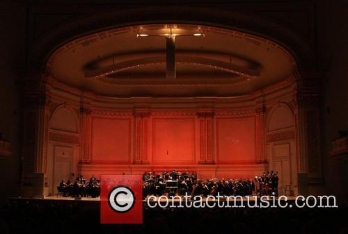 Ryan Silverman and Megan Hilty performing at The...