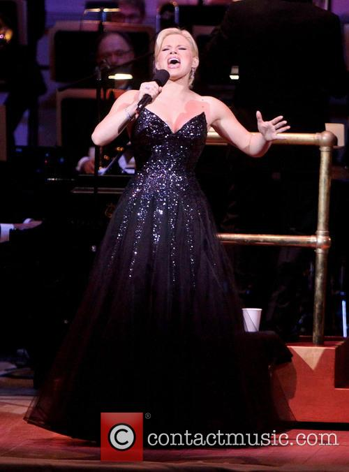 Ryan Silverman and Megan Hilty performing at The...