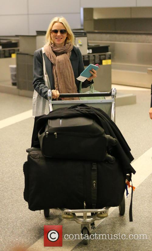 Naomi Watts seen arriving at LAX airport on...