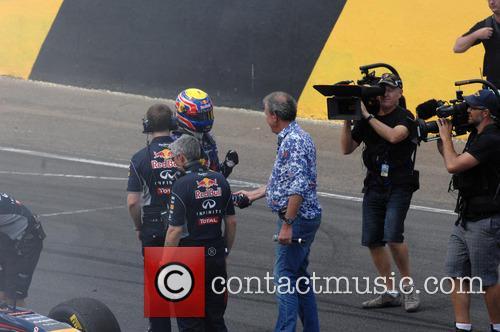 Mark Webber and Jeremy Clarkson Shake Hands 1