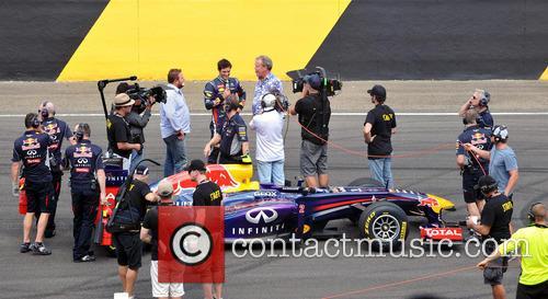 Webber and Clarkson Red Bull Car 3