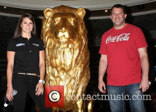 Danica Patrick and Tony Stewart 4