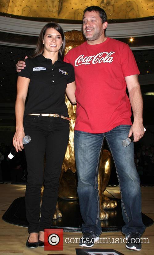 Danica Patrick and Tony Stewart 5