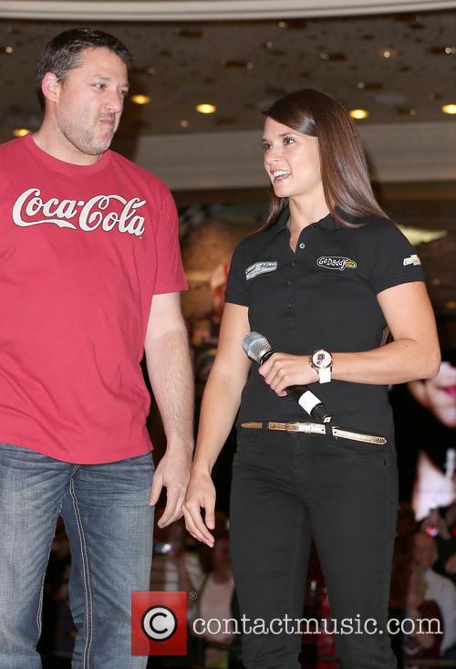 Danica Patrick and Tony Stewart 6