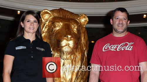 Danica Patrick and Tony Stewart 9