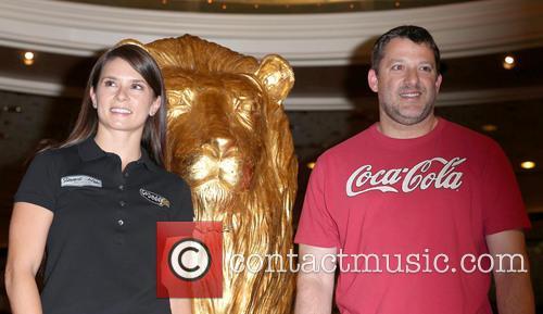 Danica Patrick and Tony Stewart 11