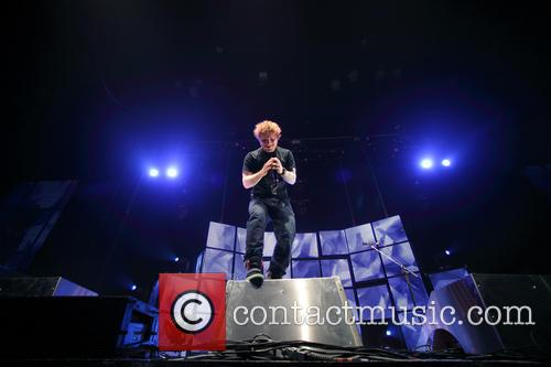 Ed Sheeran performing