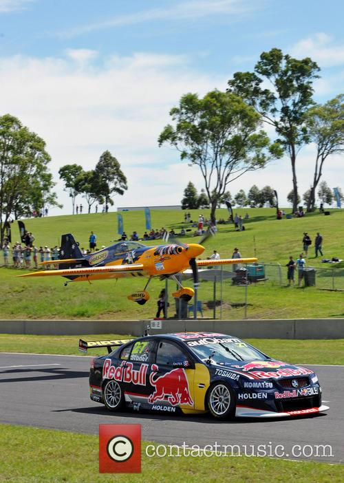 Jamie Whincup and Matt Hall Battle In The Car V Plane Challenge - Whincup Won. 2