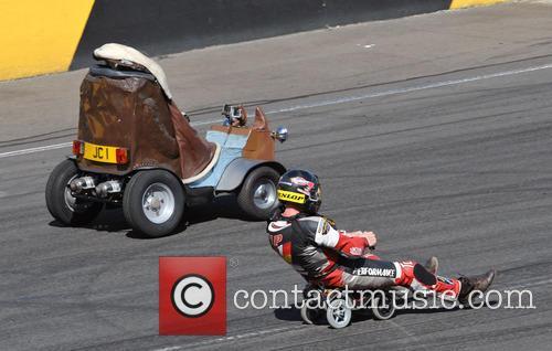 Jeremy Clarskon Races An Unkown German In Small Rocket Powered Cars 7