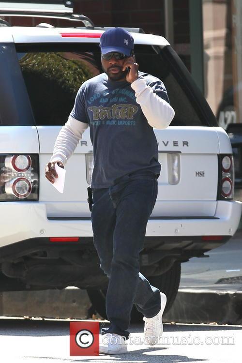 Malcolm-Jamal Warner seen leaving a medical building