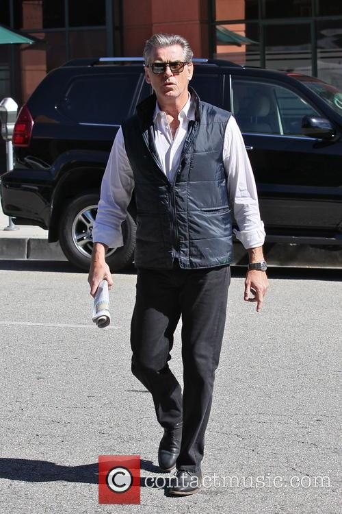 Pierce Brosnan runs errands