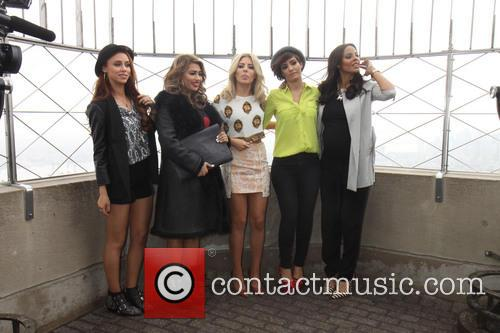 The Saturdays promoting their new American reality-documentary television...