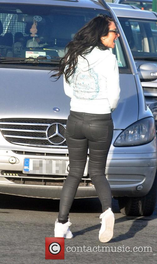 Tulisa Contostavlos seen arriving at Dublin Airport