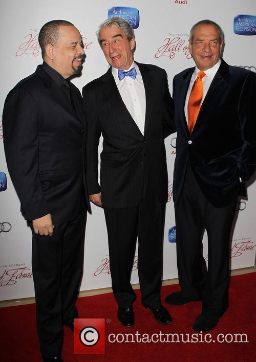 Ice-t, Sam Waterston and Dick Wolf 7
