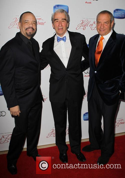 Ice-t, Sam Waterston and Dick Wolf 9