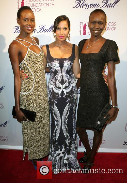 Ajak Deng, Padma Lakshmi and Alex Wek 2