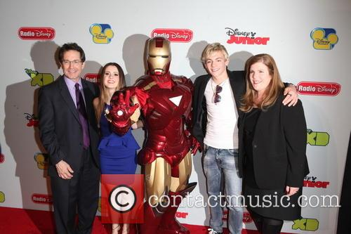 (l-r) Gary Marsh, President, Ceo Of Disney Channels, Laura Marano, Iron Man, Ross Lynch, Rita Ferro and Executive Vice President Of Disney Media 2