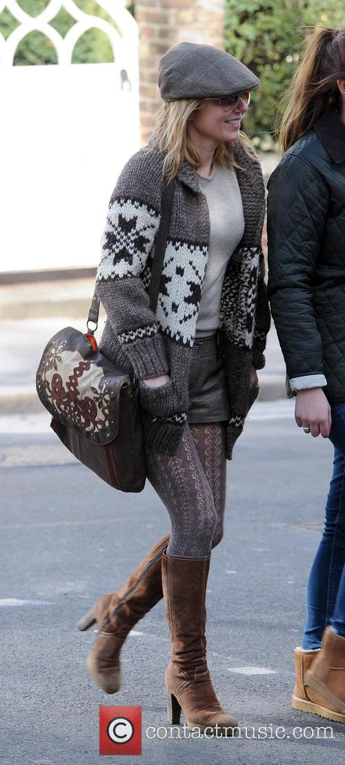 Geri Halliwell seen on the school run in...