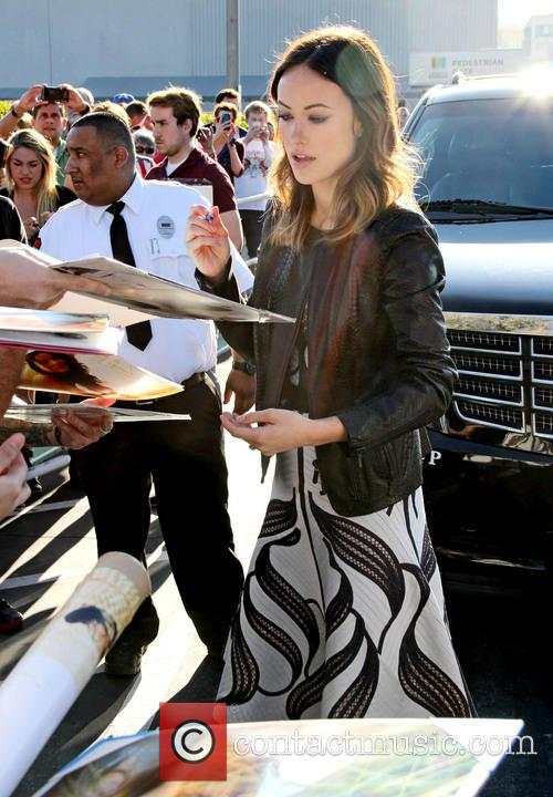 Olivia Wilde outside The Burbank Studios