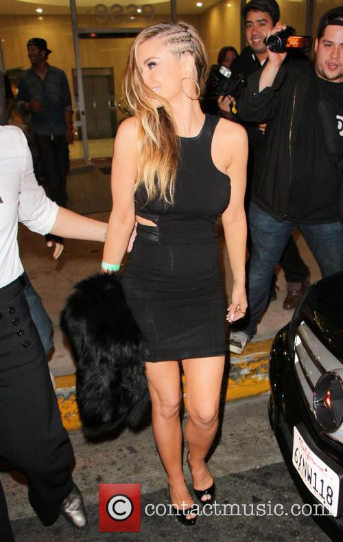 carmen electra celebrities outside bootsy bellows nightclub 3553023
