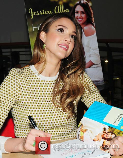 Jessica Alba signs copies of her book 'The Honest Life: Living Naturally and True to You'