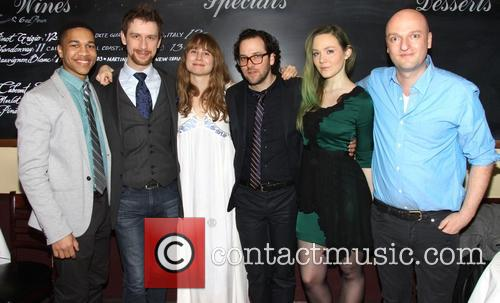 Clifton Moten, Alex Hanna, Annie Baker, Sam Gold, Louisa Krause and Matthew Maher 3