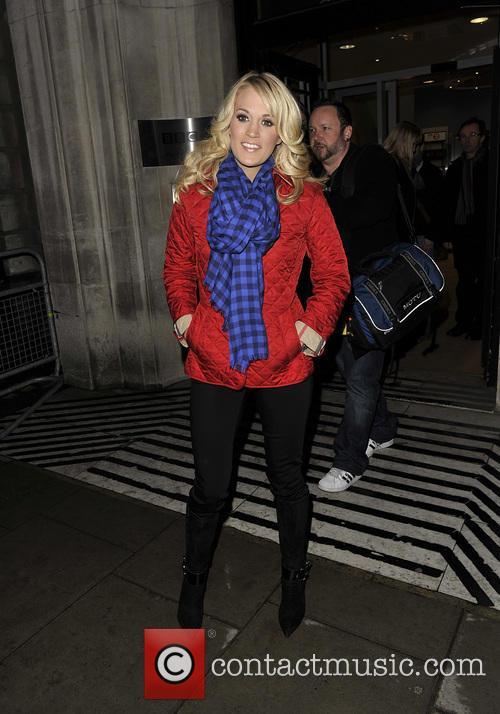 Carrie Underwood leaving the BBC Radio 2 studios