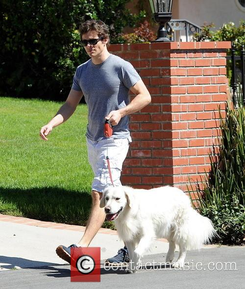 James Marsden spotted walking his dog