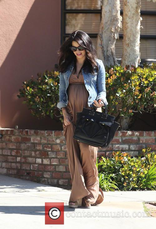 A pregnant Jenna Dewan is seen leaving her...