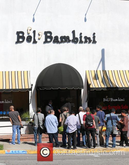 Kim and Khloe Kardashian seen leaving Bel Bambini