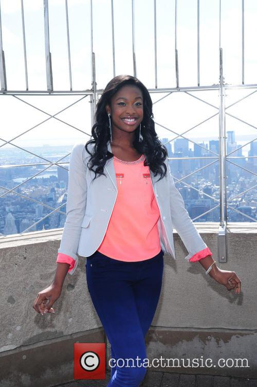 Coco Jones at the Empire State Building