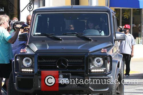 Kim Kardashian leaving Bel Bambini