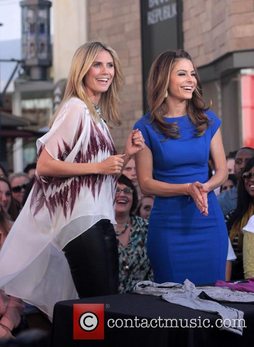 Heidi Klum and Maria Menounos 9
