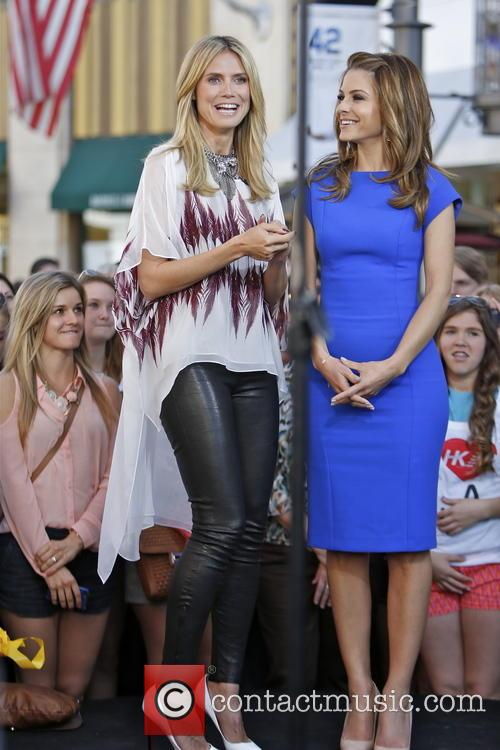 Heidi Klum, Maria Menounos, The Grove