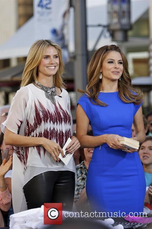 Maria Menounos and Heidi Klum 1