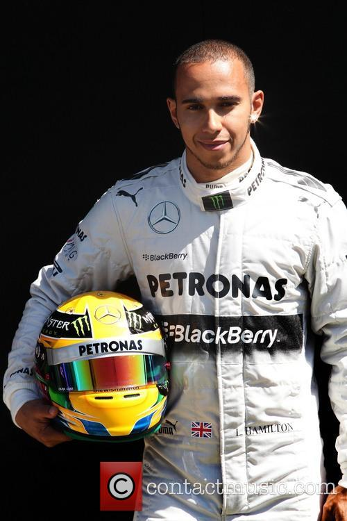Lewis Hamilton and Mercedes Gp W04 6