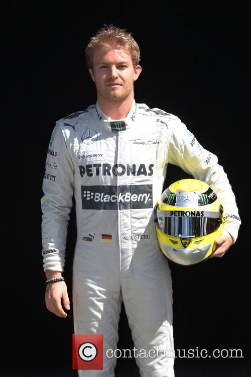 Nico Rosberg and Mercedes Gp W04 1