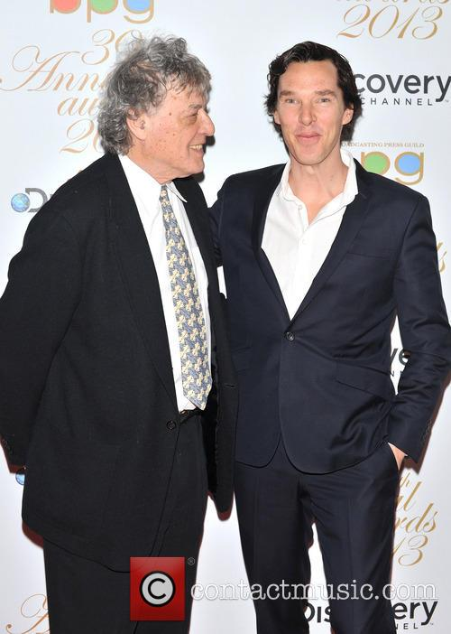 Benedict Cumberbatch and Sir Tom Stoppard 4