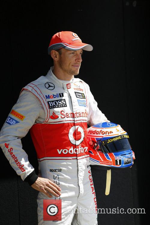 Jenson Button, Uk and Team Mclaren-mercedes Mp 4-28 2
