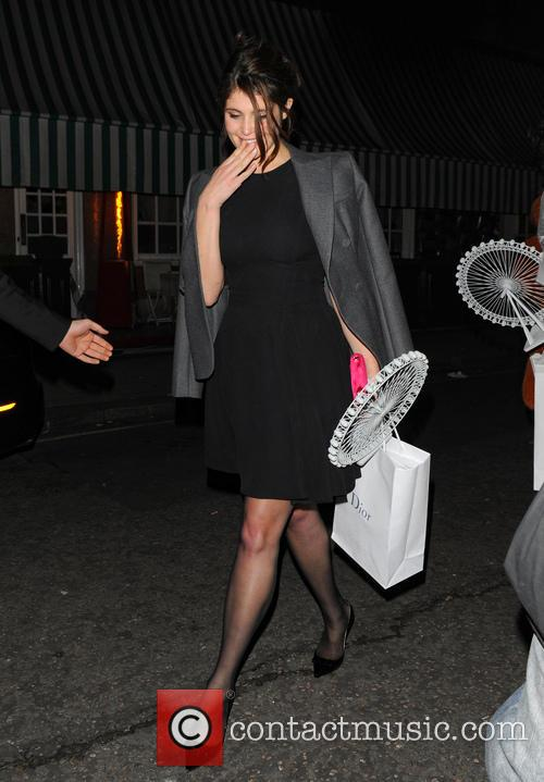gemma arterton celebrities at harrys bar 3556188