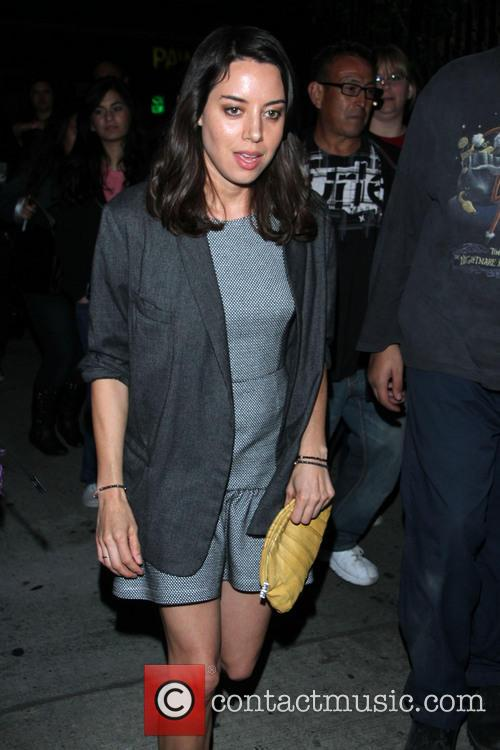 aubrey plaza celebrities outside the spring breakers 3556867