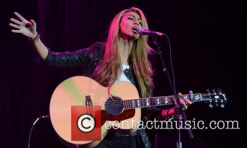 Celebrities performing in concert