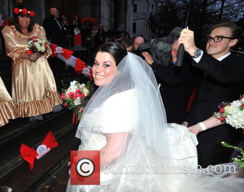 Tom Fletcher, Dawn French and Bride Claire Gilchrist 5